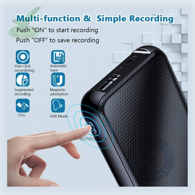 32GB Long Time Spy Hidden Digital Voice Recorder in Power Bank