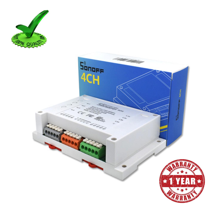Digital 4ch Sonoff Wifi RF Smart Timer Switch