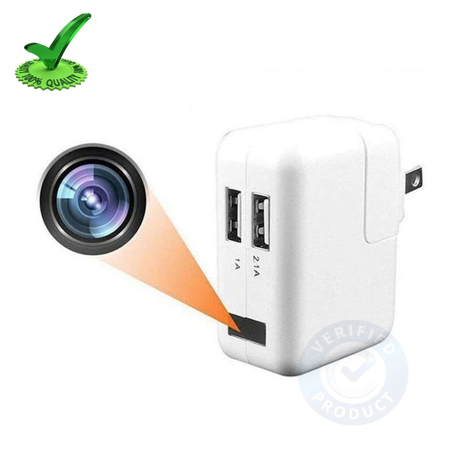 Digital 4k Wi-Fi Spy Hidden Camera with Recorder in Apple Usb Charger