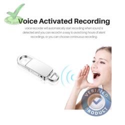 8gb 90hrs Digital Spy Audio Sound Voice Recorder in Keychain