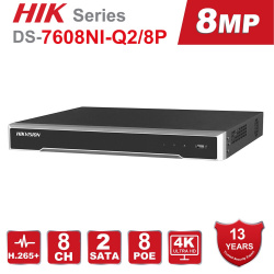 Hikvision DS-7608NI-Q2/8P 8ch POE 4k HD Network Video Recorder